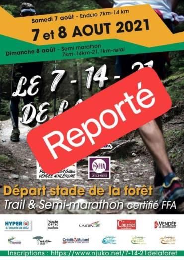 REPORT DU 7-14-21 DE LA FORÊT À 2022